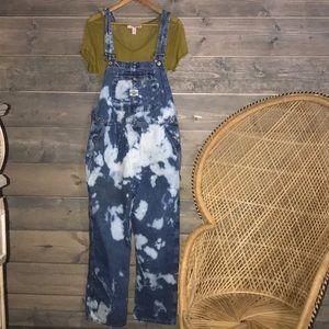 Vintage upcycled denim overalls
